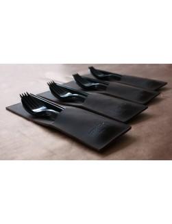 4 Table Noir Dark Brown pouches